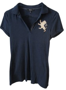 Express Polo Gold T Shirt Blue