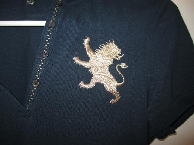 Express Polo Gold T Shirt Blue Image 1