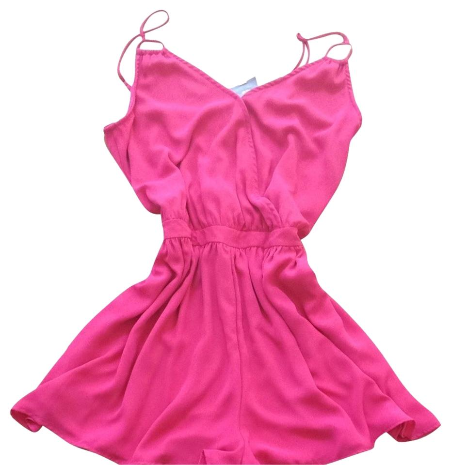 Romeo & Juliet Couture Pink Romper/Jumpsuit Size 12 (L) - Tradesy