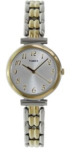 Timex T2P201 Women's Two-Tone Analog Watch With Silver Dial