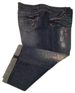 Avenue Capri/Cropped Denim-Medium Wash