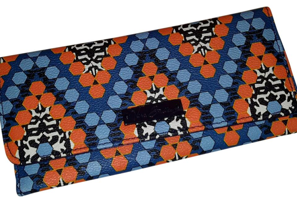 b91cf335fb72 Vera Bradley Orange Blue and Navy Marrakesh Beads Wallet - Tradesy