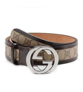 Gucci Gucci original GG canvas belt with interlocking G buckle 114874 (38)