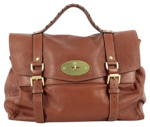 Mulberry Leather Satchel in Brown