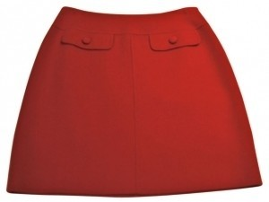 Carole Little Mini Skirt Bright Red