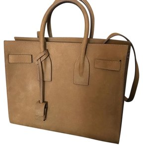Saint Laurent Sac De Jour Leather Tote in Tan