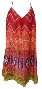 Lavender Brown short dress Red Combo Sundress Summer on Tradesy