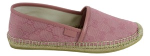 Gucci Leather Espadrille 466902 Gg Pink Flats