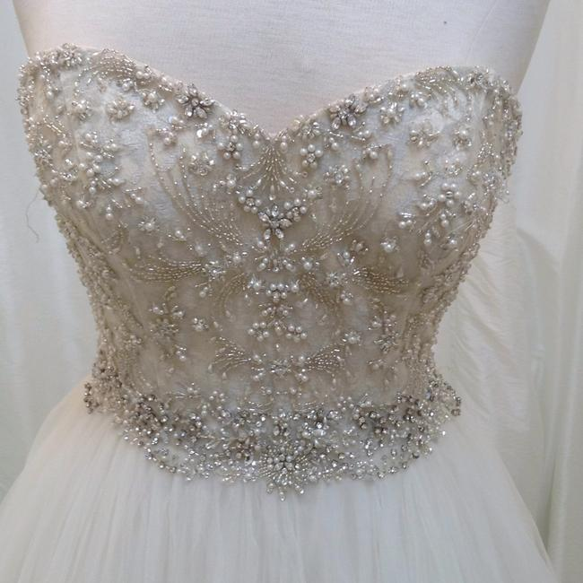 Item - Pearl/Silver Tulle 8724 Formal Wedding Dress Size 6 (S)