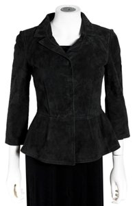 Dolce&Gabbana Suede Italian Button Up Leather Jacket
