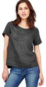 Gap Linen Short-sleeve Relaxed Fit Top Soft black