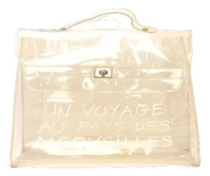 Hermès Vinyl Beach Transparent Tote in Clear