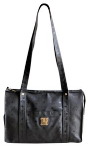 MCM Vintage Large Visetos Tote in Black