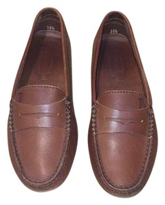 Tod's Gommino Loafer Moccasin Leather Brown Leather Flats