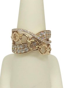 LeVian Le Vian Strawberry -n- Vanilla Ring 14k Strawberry Gold Size 6.75