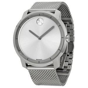 Movado Movado Bold Silver Dial Stainless Steel Mesh Mens Watch
