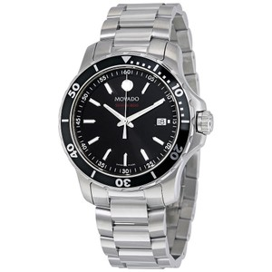 Movado Movado Series 800 Black Dial Stainless Steel Mens Watch 2600135