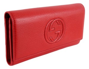 Gucci GUCCI 282414 Signature Continental Soho Wallet, Red