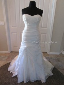 Maggie Sottero Ivory Organza Rebecca Ingram Persephone Traditional Wedding Dress Size 14 (L)