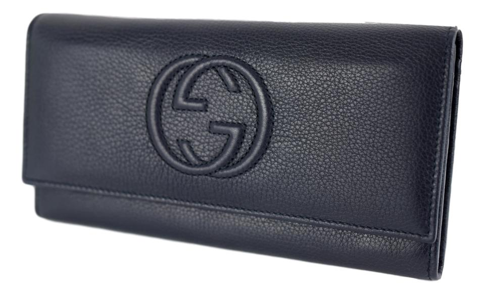 be7304fb75a2 Gucci Signature Continental Wallet Blue | Stanford Center for ...