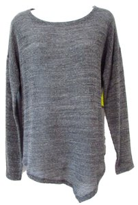 Eileen Fisher Gunmetal Soft Knit Sweater
