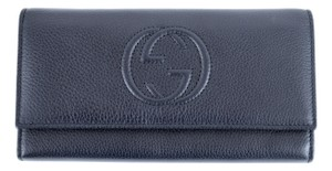 Gucci GUCCI 282414 Signature Continental Soho Wallet, Blue
