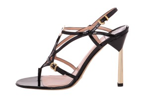 Emporio Armani High-end Mid-heel Black Sandals