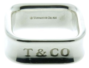 Tiffany & Co. Sterling silver 1837 Square Cushion 8mm Band Ring