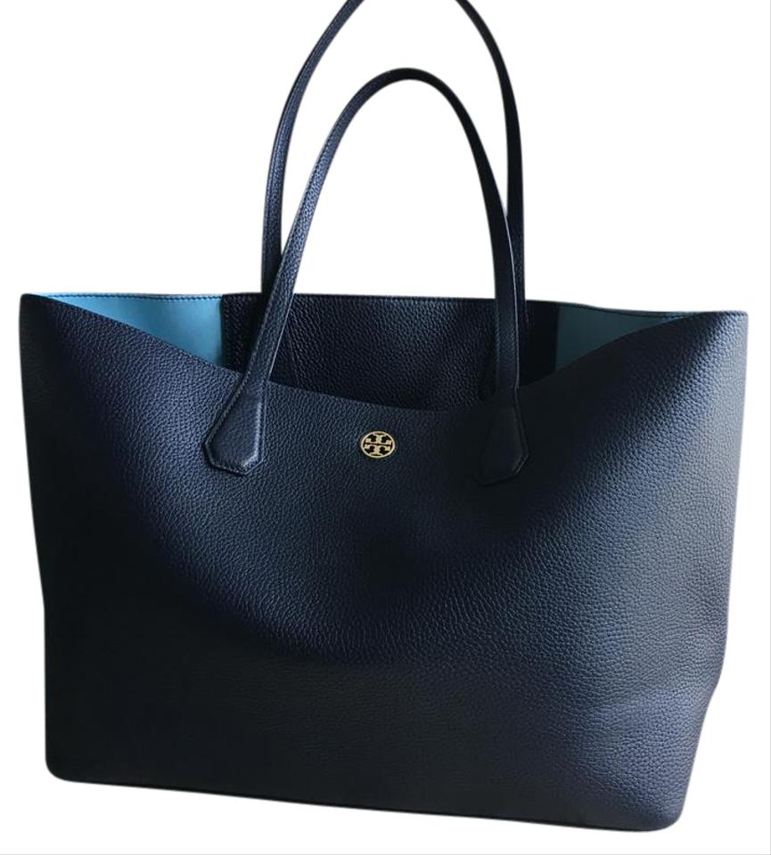 Tory Burch Perry Navy Blue Tote Bag on Sale, 31% Off | Totes on Sale