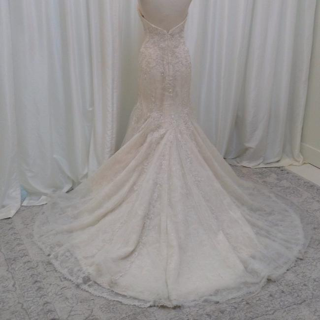 Item - Light Gold/Ivory Tulle/Chantilly Lace 9794 Formal Wedding Dress Size 8 (M)