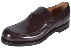 Gucci Men's Loafers Leather Brown Flats