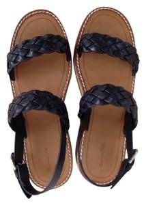 Massimo Dutti Platform Braided navy blue Sandals