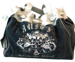 Juicy Couture Tote in navy & baby blue