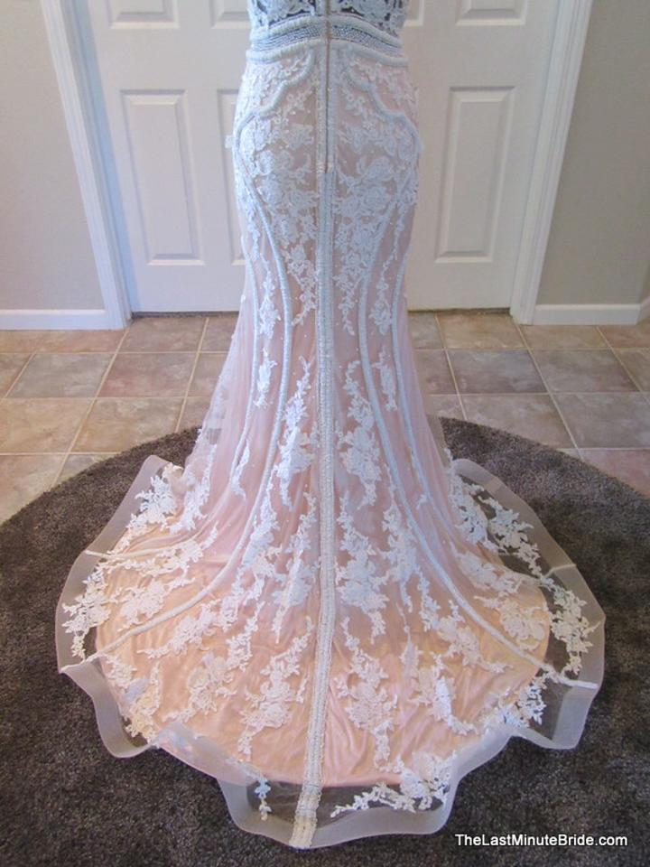 Jacquelin Exclusive Ivory/Nude Lace Anne 19018 Modern Wedding Dress ...