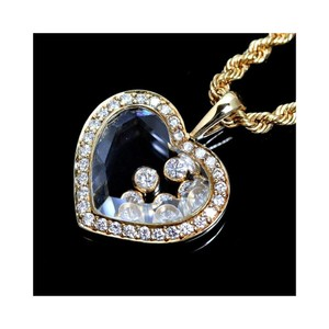 Chopard 18 k gold happy diamonds heart pendant 18k yellow necklace chopard happy diamonds heart pendant necklace in 18k yellow gold aloadofball