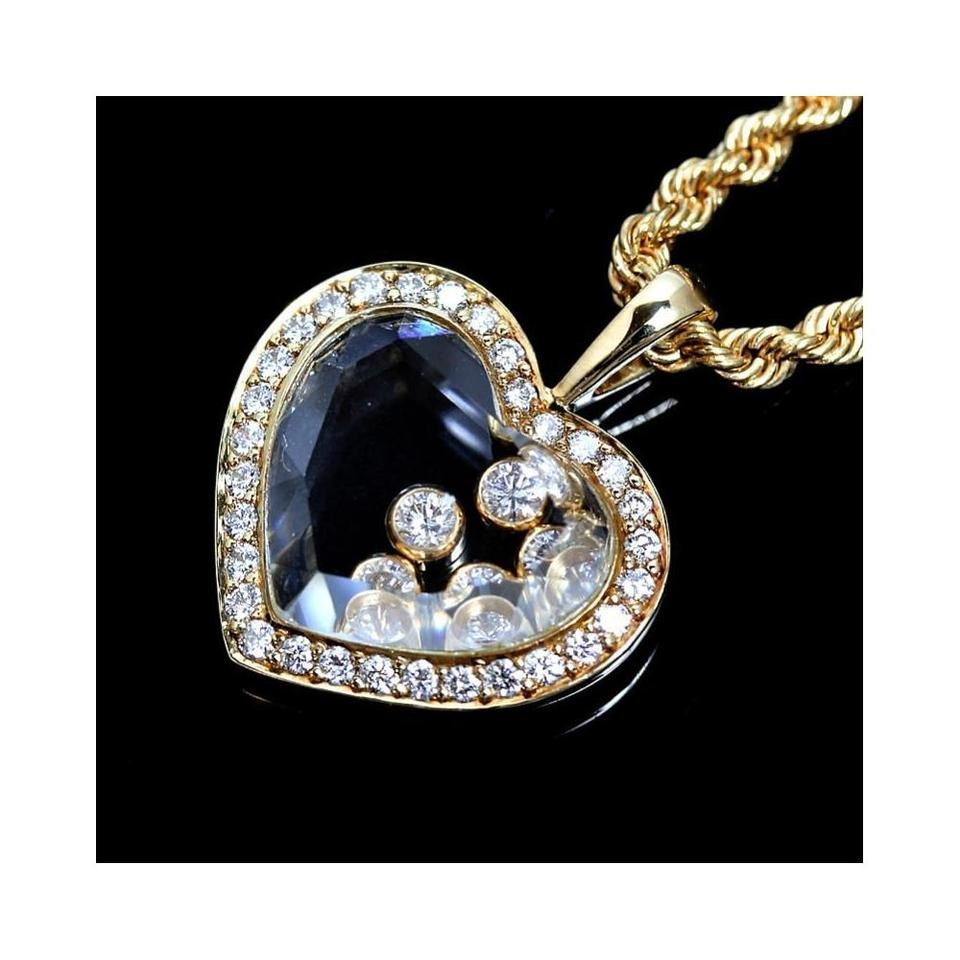 Chopard 18 k gold happy diamonds heart pendant 18k yellow necklace chopard happy diamonds heart pendant necklace in 18k yellow gold aloadofball Images