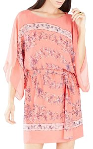 BCBGMAXAZRIA short dress Coral Print Belted Scarf on Tradesy