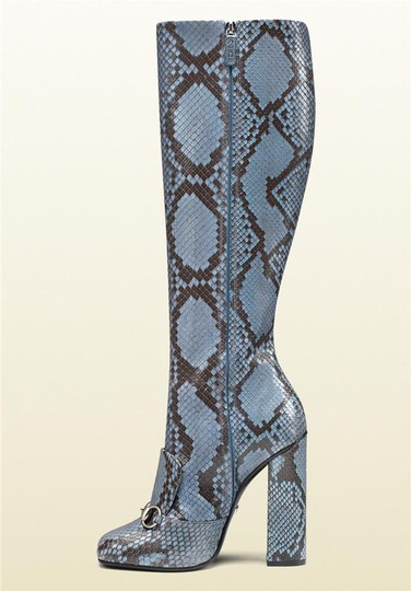 Gucci Blue/Brown Boots Image 2