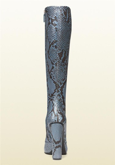 Gucci Blue/Brown Boots Image 3