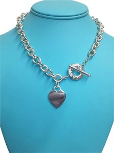 Tiffany & Co. RARE SIZE Tiffany & Co. Sterling Silver Toggle Heart Chain Necklace