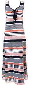 Multicolor Maxi Dress by Talbots Lace Up Maxi Long