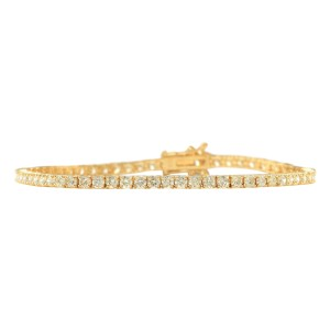Fashion Strada 4.68 CTW Natural Diamond Bracelet In 14k Yellow Gold