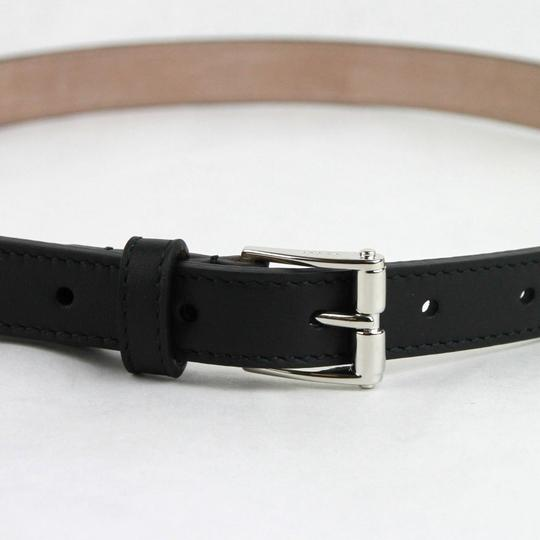 0288d247210 ... Gucci Studded Black Leather Skinny Belt With Silver Buckle 95 38 380561  1000 Image 1