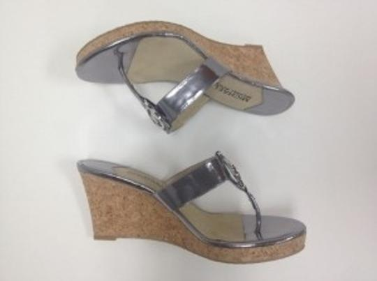 Michael Kors Silver and Cork Wedges