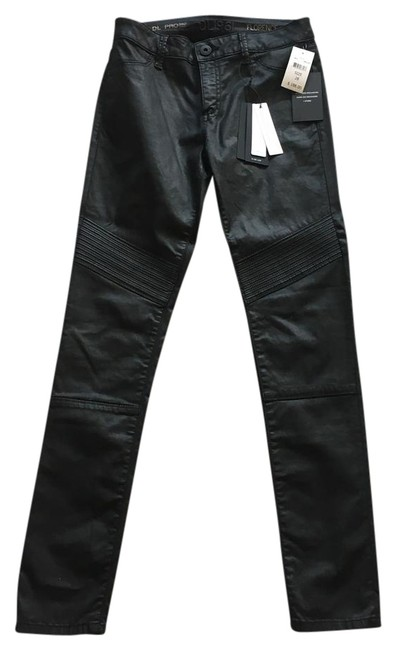 Item - Black Coated Florence Fit Skinny Jeans Size 28 (4, S)