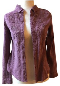 Free People Button Down Shirt Purple lilac