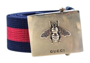 Gucci * Gucci Web belt with bee buckle