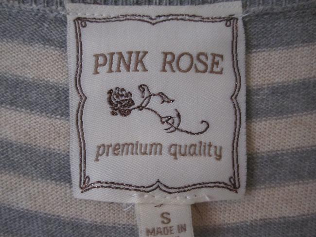 Pink Rose Sweater Button Detail Cardigan