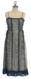 Anthropologie short dress multi Paisley Knee Length Lined on Tradesy