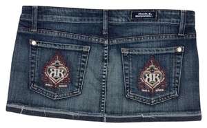 Rock & Republic Embroidered Mini Denim Mini Skirt